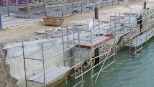 Le quai du Port Fidèle en restauration