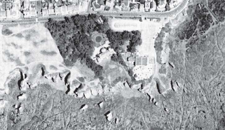 Vue aérienne de grosse terre