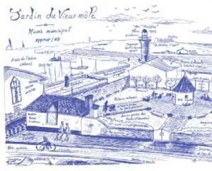 Jardin du vieux môle imaginé par C. Vidal le 12 Nov. 1999  (photo V.I.E.)